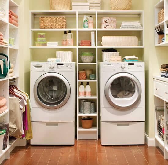 Laundry Room Customclosetmaid, Laundry Room Storage Shelves